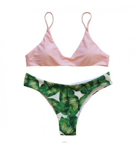 Rubylong Womens Padded Printing Swimsuit