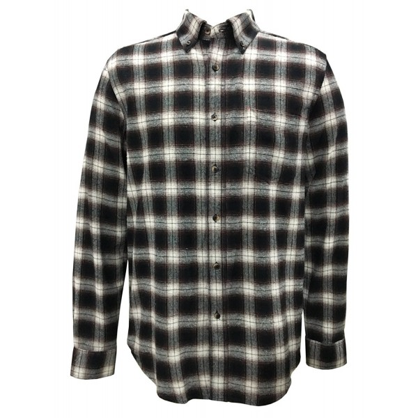 Seeksmile Plaid Sleeve Flannel Coffee