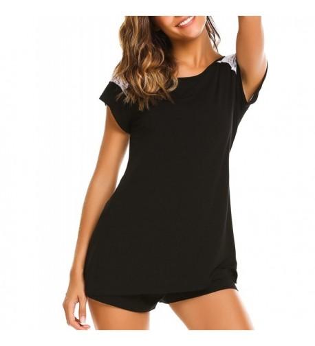 Aimado Pajamas Shoulder Sleeves Sleepwear