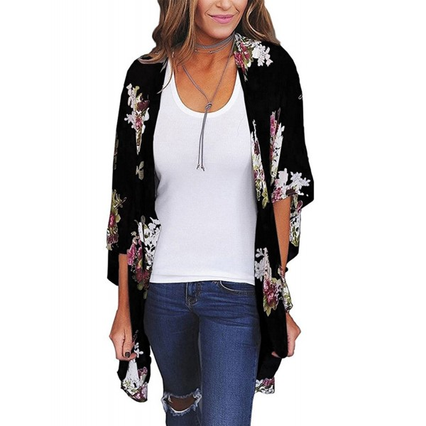 aeb708223a25a Yonala Womens Floral Chiffon Cardigan. . Yonala Womens Floral Chiffon  Cardigan. Discount Women's Swimsuit Cover Ups