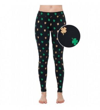 Womens Green ST Patricks Leggings
