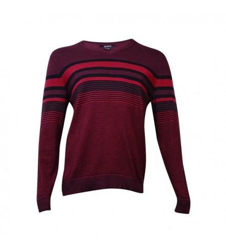 Alfani Striped Regular Pullover Sweater