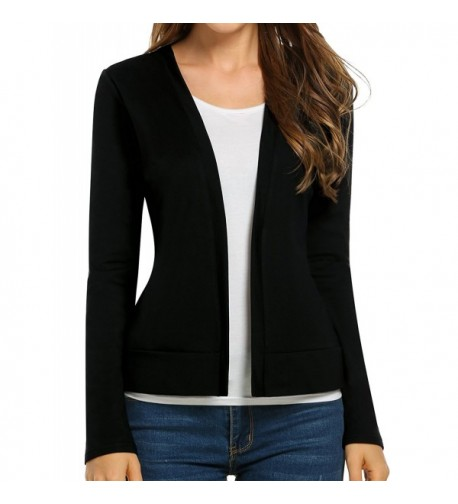 Beyove Womens Casual Sleeve Cardigan