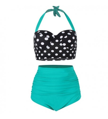 JOYMODE Womens Waisted Halter Swimsuits