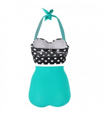 6a4cd8271cc Women's Retro Vintage Polka Underwire High Waisted Swimsuit Bathing ...
