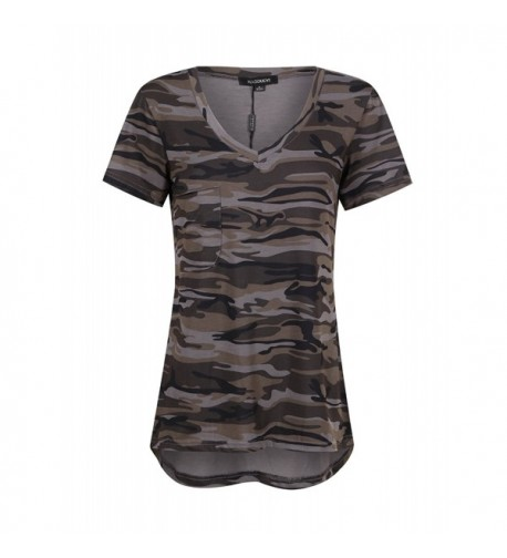 HaoDuoYi Womens Camouflage Jersey Longer