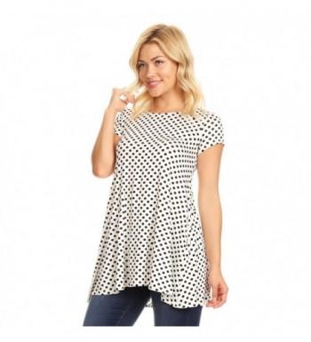 e9322bc4202 Womens Short Sleeve Tunic White Black; Designer Women's Tunics for Sale;  Cheap Designer Women's Tops ...