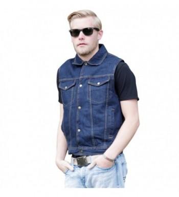 Denim Sleeveless Jacket Concealed Holsters