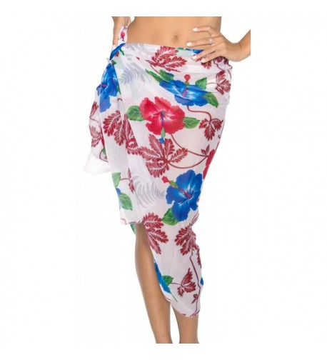 Sarong Bathing Swimsuit Chiffon Printed