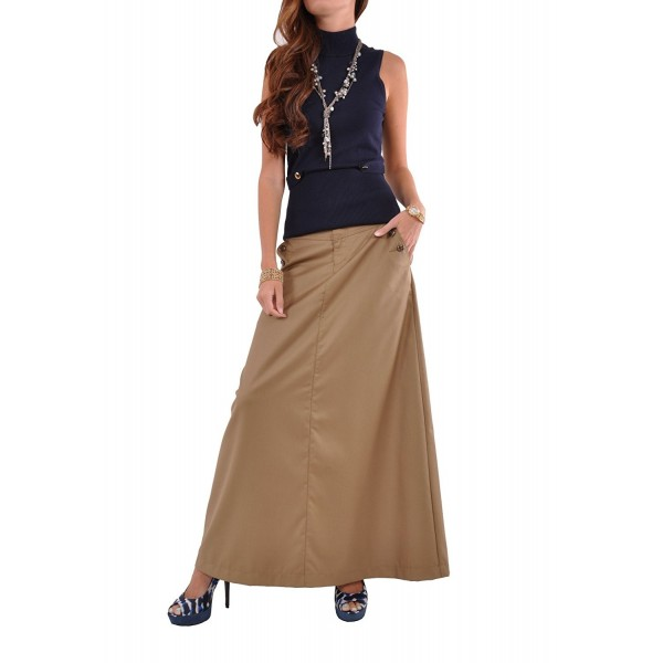 Style Just Chic Khaki Skirt Beige 28