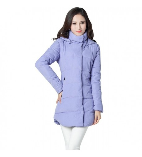 Ilishop Womens Md long Cotton padded Removable