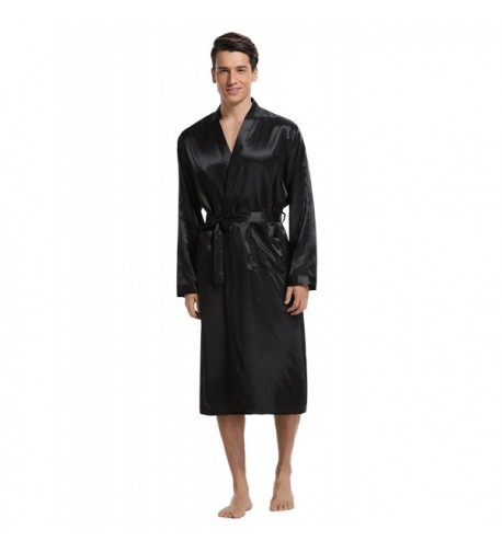 Aibrou Satin Bathrobe Lightweight Sleepwear