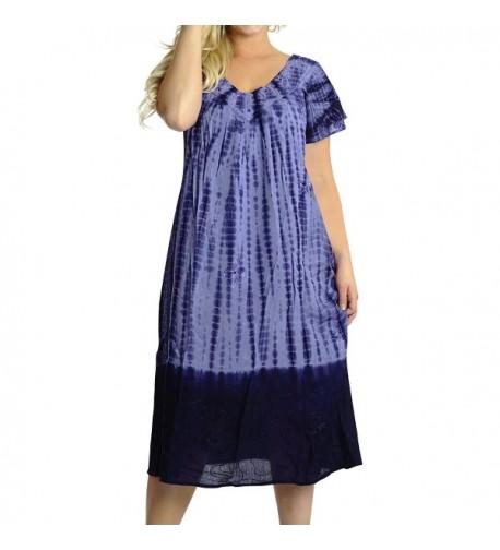 Leela Embroidered Swimwear Caftan Purple