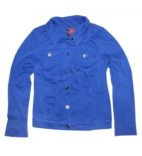Gloria Vanderbilt Womens Jacket Sapphire