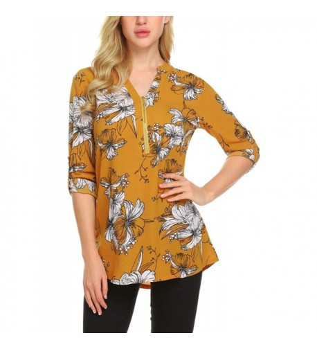 Bifast Womens Casual Chiffon Blouse