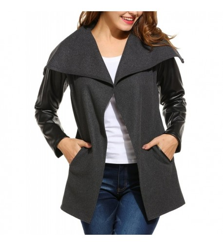 ANGVNS Women Oversized Collar Jacket