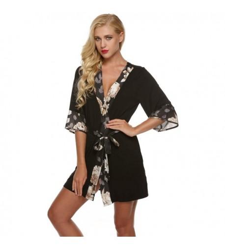 Ekouaer Sleepwear Kimono Loungwear Nightwear