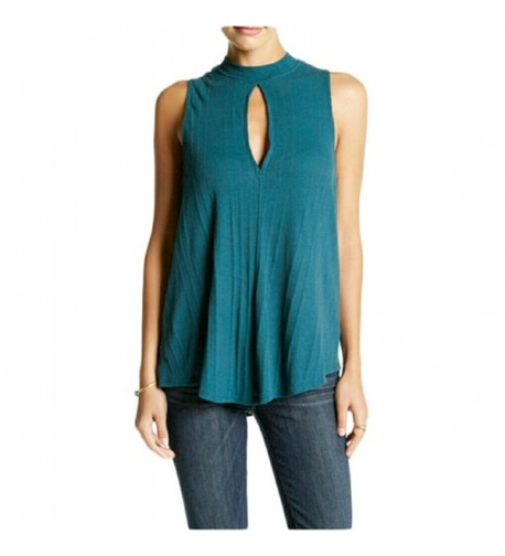 Free Womens Cut Out Ribbed Blouse