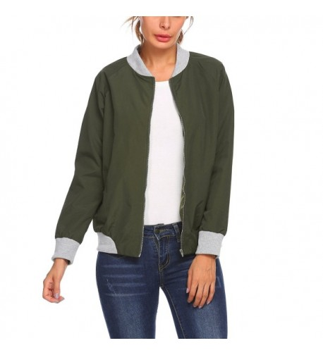 Dicesnow Womens Bomber Classic Patchwork