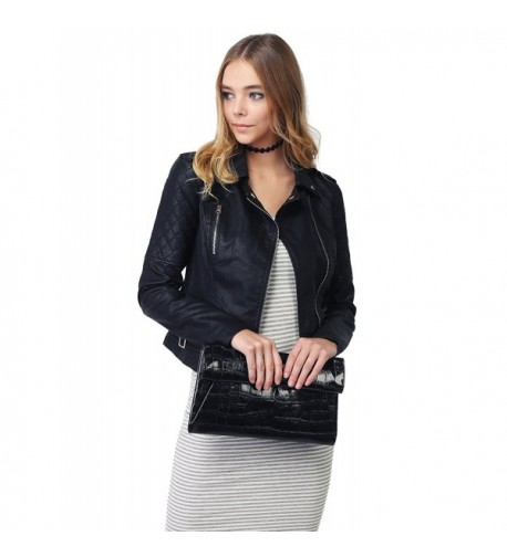 Quilted Sleeve Classic Leather Jackets