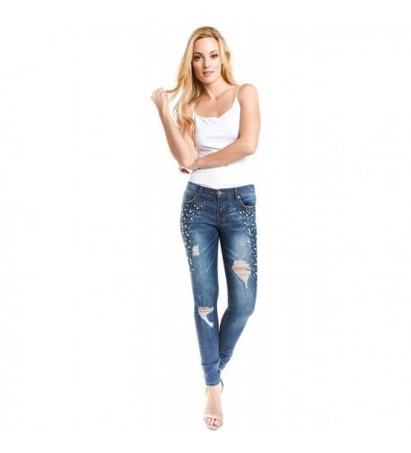 Trinity Jeans Sparkling Embellished Distressed