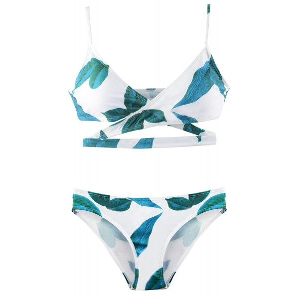 Halter Bathing Swimsuits Printed Padded