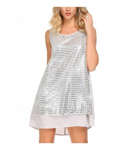 Mofavor Sleeveless Sparkle Camisole Sequined