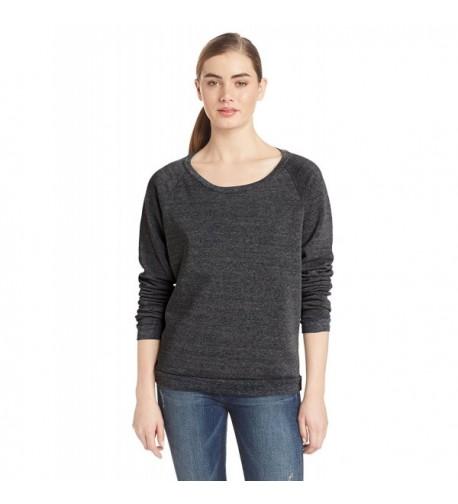 Alternative Womens Fleece Pullover Black