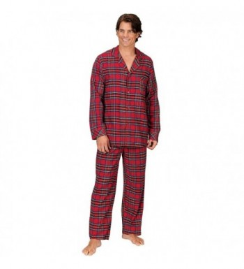 PajamaGram Stewart Classic Flannel Pajamas