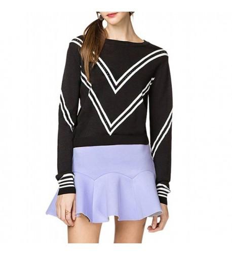 Striped Crewneck Pullover Sweater Multicoloured