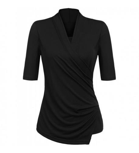Yhlovg Womens Stretchy Sleeve Blouse