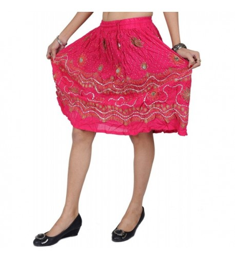 Exotic India Midi Skirt Embroidered Sequins