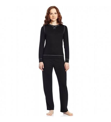 Leveret Women Piece Pajama Black