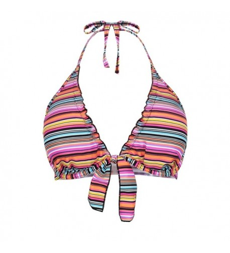 Futurino Womens Self tie Triangle Multicoloured