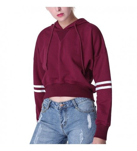 Drawstring Cropped Sweatshirt Women XX Large