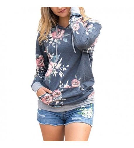 Hoodie Pullover Floral Zerorun Sweatshirt