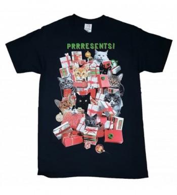 Mens Christmas Shirt Prrresents X Large
