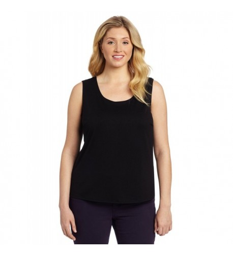 Notations Womens Plus Size Solid Spandex
