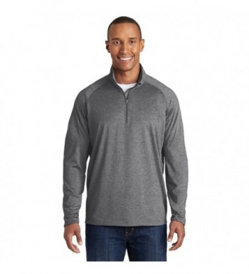 Sport Tek Sport Stretch Pullover Charcoal Heather Large