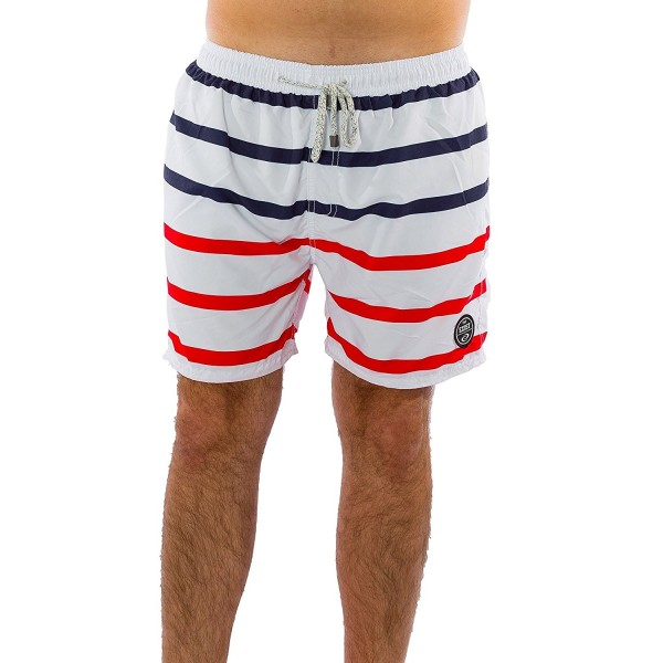 c75b3fec4dc36 Men's Stripes Swimwear 100% Polyester Quick Dry Board Shorts Bathing ...