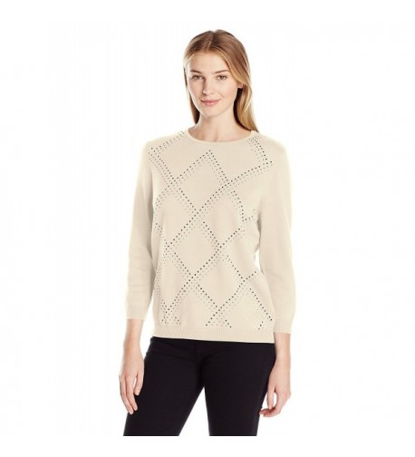 Alfred Dunner Classic Embellished Sweater