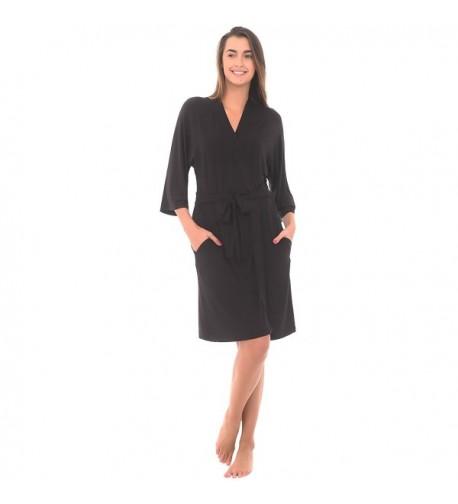 Alexander Del Rossa Loungewear A0415BLKMD