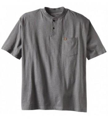 Wrangler Workwear Sleeve Henley Charcoal