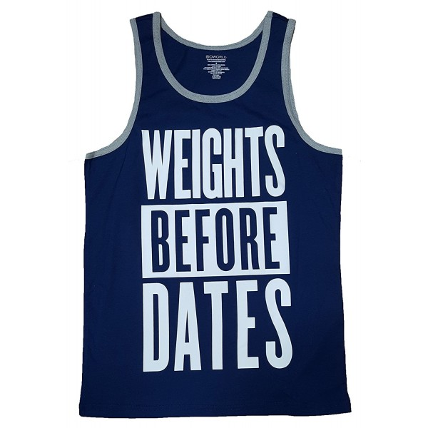 Weights Before Dates Graphic Tank