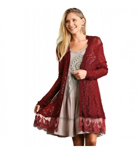 Umgee Lightweight Trimmed Cardigan Sweater