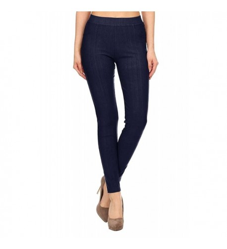 Length Cotton Jeggings Indigo Denim