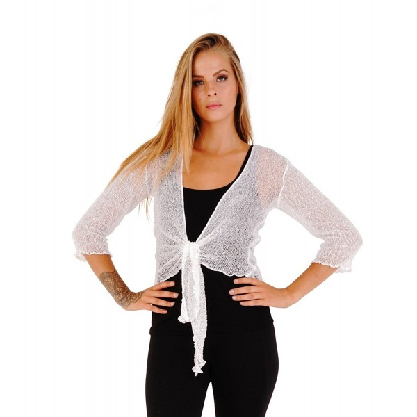 SHU SHI Womens Sheer Cardigan Lightweight