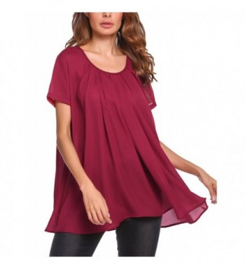 54fe9a6f359 Zeagoo Womens Sleeve Pleated Fitted; 2018 New Women's Blouses Online ...