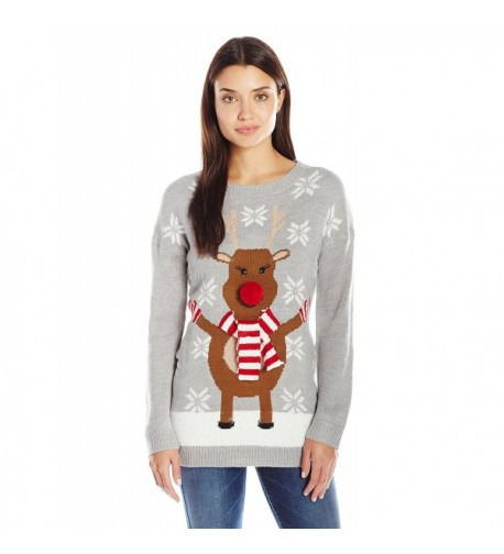 Notations Womens Rudolph Christmas Sweater