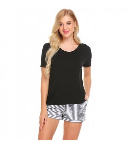 sholdnut Womens Sleepwear Sleeve Striped